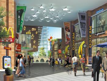 商业街西北入口效果图